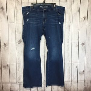 Old Navy Rockstar Boot Cut Jeans 22 Distressed